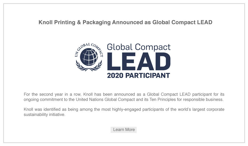 UN Global Compact LEAD 202 - Knoll Printing & Packaging